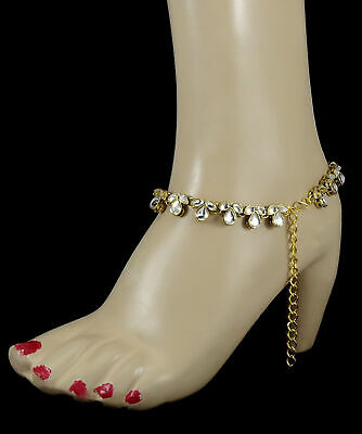 Goldplated Barefoot Beach Ankle Indian Women Bridal Wedding Chain Anklet Jewelry Uhren & Schmuck Modeschmuck
