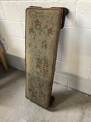 Victorian Duet Prayer Stool / Kneeler covered in woollen tapestry / cross stitch