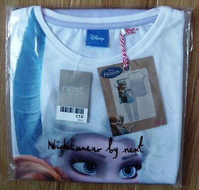 Bnwt Next Disney Girls Frozen Elsa Pyjamas 9 Yr 8-9 New Leggings Top Olaf Anna 2