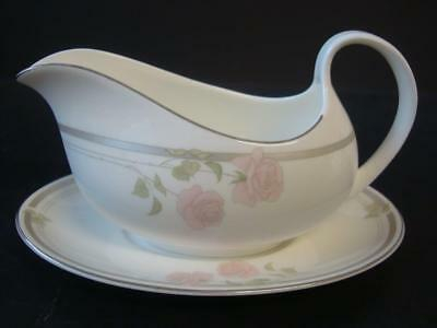 Royal Doulton Twilight Rose Gravy Boat & Stand 1St Quality Hardly Used