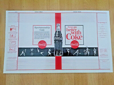 Coca-Cola  BOOK COVER - NOS- HTF- 1960's-Dust Jacket-TGBWC-Sportsman Code