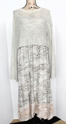 Anthrolopogie Sleeping On Snow Dress & Sweater Set, Size Large, New With Tags!