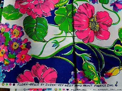 Zuzek Key West Hand Print butterfly flower fabric Flora Belle Lilly Pulitzer BTY