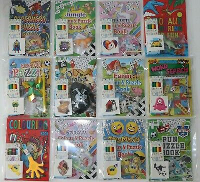Childrens Pre Filled Party Bag Fillers Packs Pirate Dinosaur Football Jungle
