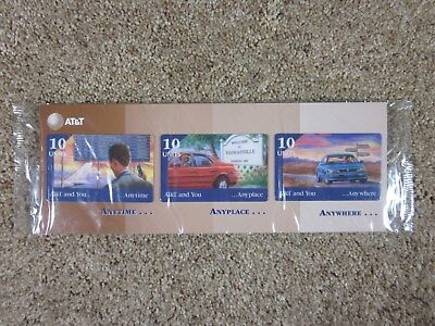 Vintage - Lot of 3 - Collectible - AT&T 1986 Phone Cards - Promotional Packet