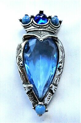 SCOTTISH LUCKENBOOTH BROOCH WITH BLUE STONES by MIRACLE HIGHLANDWEAR FOR KILTS