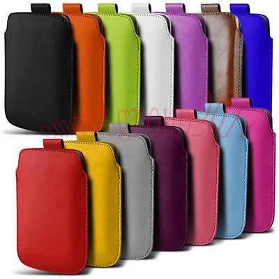 For Samsung Galaxy S5 Note4 PU Leather PULL Cord TAB Pouch Wallet Bag Cover Case