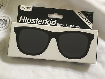 New Hipsterkid Baby POLARIZED Sunglasses 0-2 Years Shatterproof Stay on Strap