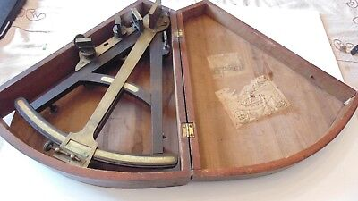 Antique Sextant w Original Box, FW Lincoln  of Boston, Wm Hamlin Providence RI