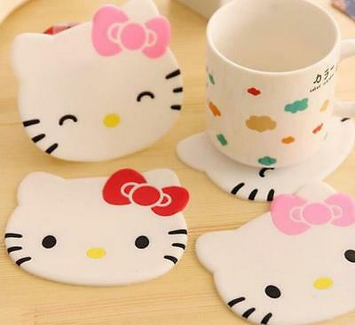 1x Hello Kitty Drink Coaster Tea Coffee Cup Mat Pad Kitchen TableDecor Placemat