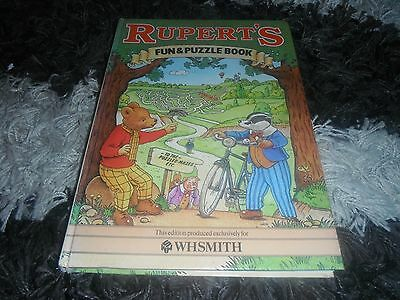 Rupert The Bear 1983 Fun And Puzzle Book W H Smith Children's Hardback Book
