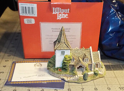 """Lilliput Lane Greensted Church With Box and Deeds - 4.25"""" Tall -New In Box"""