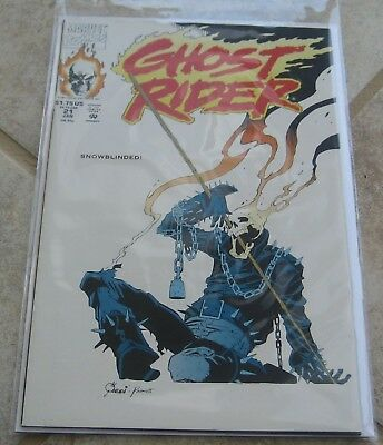 Ghost Rider Vol 2 #21 VF/NM Joe Quesada Cover Marvel Comics