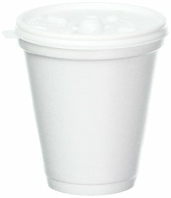 8 Oz Disposable Coffee Foam Cups Hot and Cold Drink Cup Pack of 100 W/ Lid
