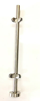 Railing Posts with Glass Holder Stainless Steel Ø42 , 4mm x 2,00mm