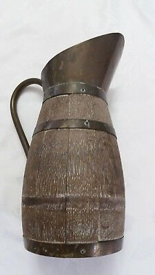 Antique German Wood Water Pitcher
