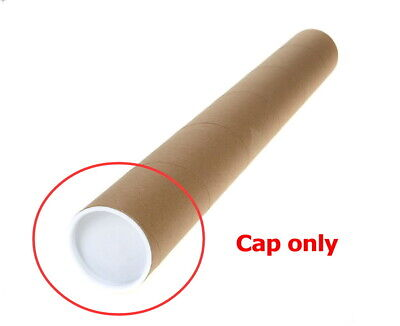 "100 2"" White End Plastic Caps For Cardboard Shipping Mailing Mail Postal Tubes"