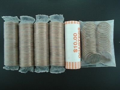 Lot of (6) Uncirculated U.S. State Quarter Rolls $60 Face Value **NO RESERVE**