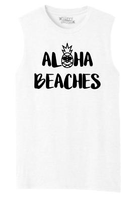 0c04e9cd2 MENS ALOHA BEACHES T-Shirt Vacation Pineapple Shirt - $6.99 | PicClick