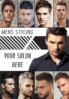 Barbers Mens Hairdressers Hair Salon Customised poster A2, A1, A0 sizes