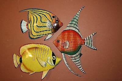 (3), Seafood Restaurant Wall Art, Realistic Ocean Fish, Coral Reef Fish Decor