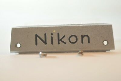 Nikon F NAME plate replacement part for late F 35mm SLR camera T TN FTN finder