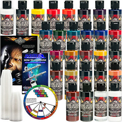 26 Createx Wicked Colors 2oz Detail Colors Airbrush Paint Set - Hobby Art Craft