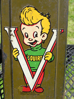 Rare Squirt Soda 1942 Decal On Miniature Foot Locker WW2 V For Victory