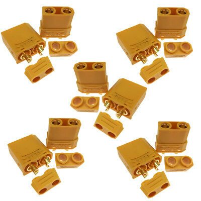 10 Pieces Gold XT90 Anti-spark Connector Male Female RC 4.5mm Plugs US Fast Ship