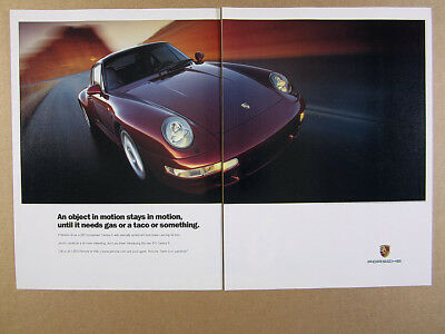 1997 Porsche 911 Carrera S color photo vintage print Ad