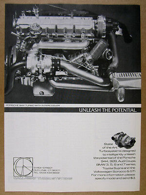 1983 Callaway Porsche 944 Turbo with Intercooler engine photo vintage print Ad