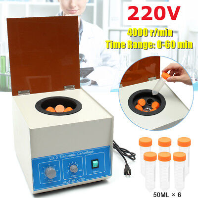 220V LD-3 6x50ml 4000 r/min Electric Benchtop Centrifuge Lab Medical Practice