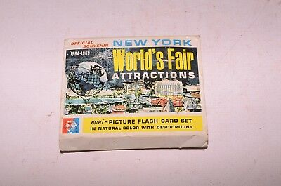 1964-1965 New York World's Fair Attractions Mini Picture 24 Flash Card Set