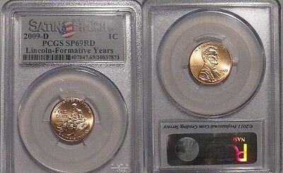 2009-D Lincoln Formative Years Satin Finish Sp69 Rd Pcgs Cent - Pop 146/0 Finer