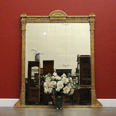 Antique French Gilt Frame Mantle Mirror Also Hall, Wall, Vanity, Bed Room Mirror