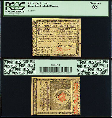 Outstanding High Grade Colonial Note, Pcgs, 63