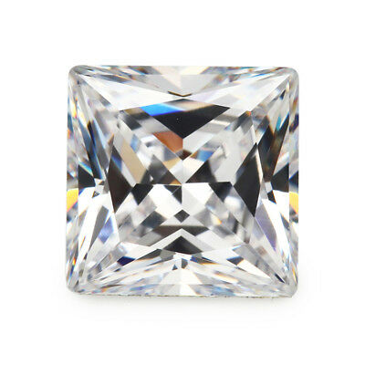 Size 1.5x1.5~12x12mm Square Shape Princess Cut Cubic Zirconia Stone Loose CZ