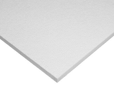"ABS White Plastic .125 - 1/8"" x 24"" x 48"" Textured 1 Side Vacuum Forming Sheet"