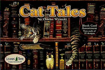 Leanin Tree Cat Tales Charles Wysocki 20 Blank Cards 2 each of 10 designs