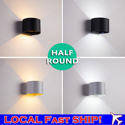 12W LED Outdoor Up/Down Lamp Wall Sconce Light Waterproof Garden Yard Half Round