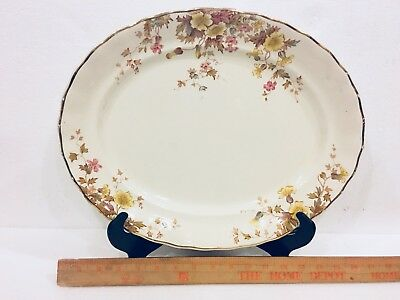 Antique K & CO B Late Mayers 1790 Flora Floral Large Oval Platter Keeling & Co