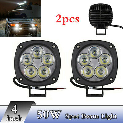 4INCH 50W CREE LED SPOT Work Light for OffRoad Truck 4WD 4X4 UTE ATV FOG LAMP