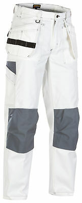 Blaklader White Painters Knee Pad Trousers with Nail Pockets (CottonTwill) -1531