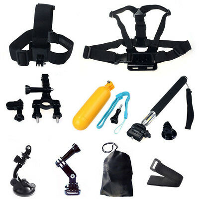 Head Chest Mount Monopod Gopro Accessories Kit For GoPro Hero 2 3 4 Camera