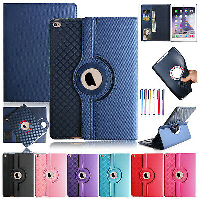 Flip 360 Rotating Leather Smart Stand Case Wallet Cover For iPad 9.7 2018/Mini