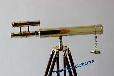 Nautical Brass New Telescope Pirate Spyglass W/stand 18 Inch Reproduction Gifts
