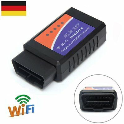 WiFi ELM327 OBDII OBD2 Interface Auto Diagnosegerät Scanner Windows iOS Android