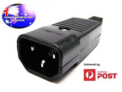 From OZ Quality 1PC 250v 10A Appliance Male 3 Pin Plug Socket IEC C13 Black + FP