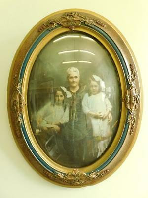 Stunning Large Edwardian Ornate Oblong Picture Photo frame Convex Glass c1920.