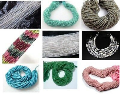 "Wholesale Price Beads Strand 3-4Mm With 13"" Long Semi Precious Gemtone Round Cut"